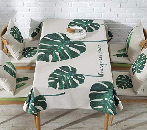 Tuhaxz Tischdecke Rechteckigen Pastoralen Stil Tropische Pflanzen Gedruckt Tischdecke Home Schutz Und Dekoration Elegante Tischabdeckung