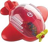 HABA 301298 - Löschflugzeug | Badespielzeug mit lustigen Effekten und rasselnden Kugeln im Inneren | Spielzeug für Badewanne und Planschbecken ab 18 Monaten