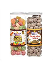 JUSTONE Fruit Hearts and Masala Black Pepper Candy, 460 g