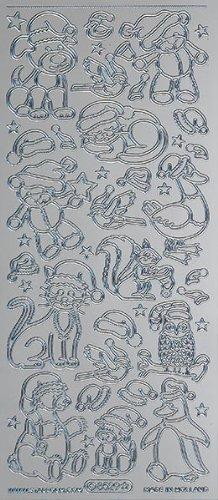 Unbekannt Starform Peel Off Motiv-Sticker 8529 silber Weihnachten -