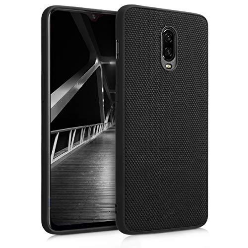 kwmobile OnePlus 6T Hülle - Handy Hardcover Case mit Nylonbezug - Schutzhülle für OnePlus 6T