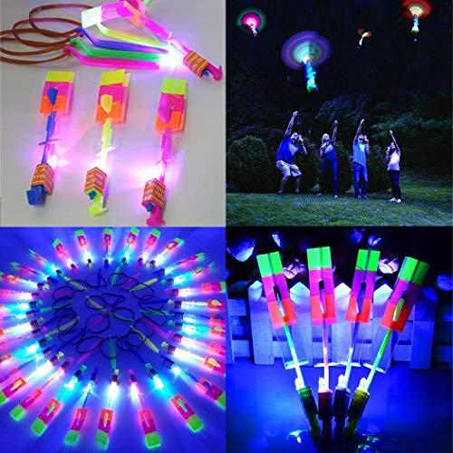 1 Pieza Juguetes para Niños Juguete Volador con Helicóptero de Luz LED para Niños