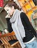 ZBYLL La Femme Coréen écharpe Gris Solide Simple Écharpe d'hiver Chaud élastique Femmes Echarpes KnittedRing Couverture Incroyable châle écharpe