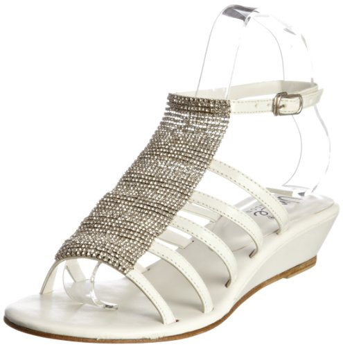Unze Evening Sandals, Sandali donna Bianco (Weiß (L18315W))