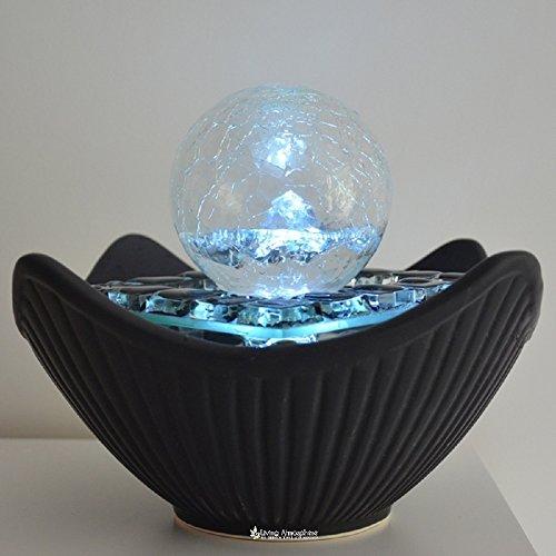 Fuente de agua interior Cristalline Ball 21,5 cm con led