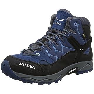 Salewa Jr Alp Trainer Mid Gtx, Unisex-Kinder Trekking- & Wanderstiefel, Blau (Dark Denim / Charcoal 0365), 38 EU