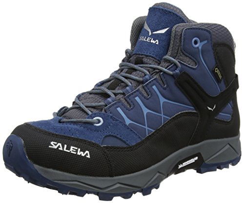Salewa Jr Alp Trainer Mid Gtx, Unisex-Kinder Trekking- & Wanderstiefel, Blau (Dark Denim / Charcoal 0365), 34 EU