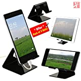 YT Mobile Phone Metal Stand/Holder for Smartphones and Tablet - Black Glossy - Pack of 3 Units (Proudly Made in India)
