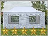 Faltzelt Faltpavillon 3x6m 6x3m weiß mit 6 Seitenteilen Partyzelt Pavillon Verkaufszelt wasserdicht