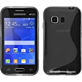 PhoneNatic Funda de silicona para Samsung Galaxy Young 2 - S-Style gris - Cover Cubierta + protector...