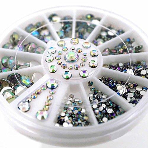SMILEQ® Diamant-Blendungs-Spitzen-Nagel-Aufkleber-Pailletten-bunte Nagel-Kunst-Dekoration (mehrfarbig)