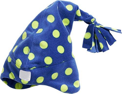Playshoes Unisex Strickmütze Warme Fleecemütze, Zipfelmütze Punkte, Oeko Tex Standard 100, Gr. Small (Herstellergröße: 49cm), Blau (marine (Ohren Mit Elf Mütze)