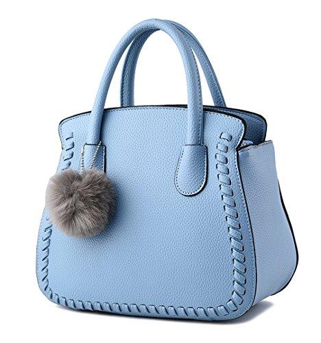 Pu neuer Stil Damen Handtaschen, Hobo-Bags, Schultertaschen, Beutel, Beuteltaschen, Trend-Bags, Velours, Veloursleder, Wildleder, Tasche Himmelblau Keshi