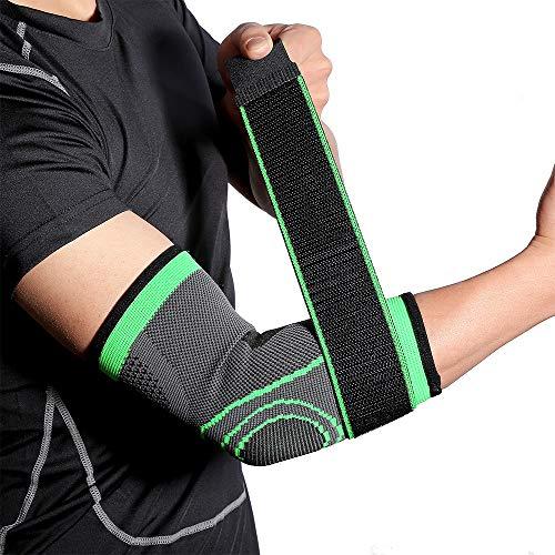 Atack-B Outdoor-Sport-Ellbogenschützer Für Damen Und Herren, Atmungsaktiver Druckschutz Mit Klettbandage Für Gewichtheben, Fitness, Basketball, Motorradfahrerschutz (ein Paar) (XL)
