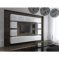 FUTURE 17 Moderne Wohnwand, Exklusive Mediamöbel, TV Schrank, Neue  Garnitur, Große