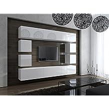 Wohnwand modern weiß hochglanz  Suchergebnis auf Amazon.de für: Wohnwand modern Hochglanz