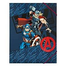 Undercover- Cartella Formato A4 con Elastico sull'angolo, Marvels The Avengers, Circa 32 x 25 cm, AVER0300