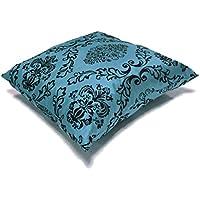 Funda de almohada aterciopelada, color damasco, de seda sintética. Funda para cojín.