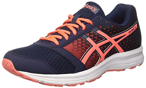 Asics Patriot 8, Scarpe da Ginnastica Unisex-Adulto, Blu (Dark Navy/Flash Coral/White), 44 1/2 EU