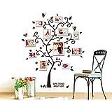 ufengke® Kreative Bild-Fotorahmen Baum Wandsticker, Wohnzimmer Schlafzimmer Entfernbare Wandtattoos Wandbilder