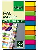 Sigel HN617 Haftmarker Film, micro, 400 Streifen im Format 50 x 6 mm, 2x5 Farben