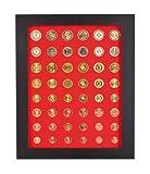 Lindner 2486B-2937 Münzbox-Rahmen CHASSIS Mattschwarz inkl. Münzbox-Rauchglas dunkelrote Einlage für 10 Euro-Münzen PP