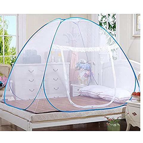 candora, Insektenschutzrollos, Outdoor Mongolisches Jurte Dome net-free Installation und zusammenklappbar Netze, verhindern Insekten, sorgen Air Flow Pop Up Zelt Vorhänge, für Innen- und Außenbereich geeignet., 150*200*150cm