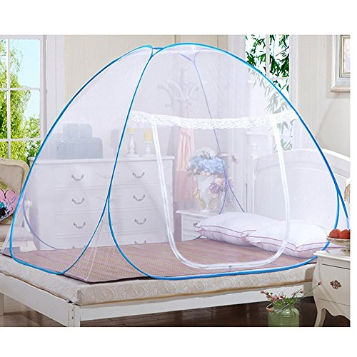 Candora Moskitonetz Insektenschutzrollos, Outdoor Mongolisches Jurte Dome net-free Installation und zusammenklappbar Netze, verhindern Insekten, sorgen Air Flow Pop Up Zelt Vorhänge, für Innen- und Außenbereich geeignet., 180*200*150cm