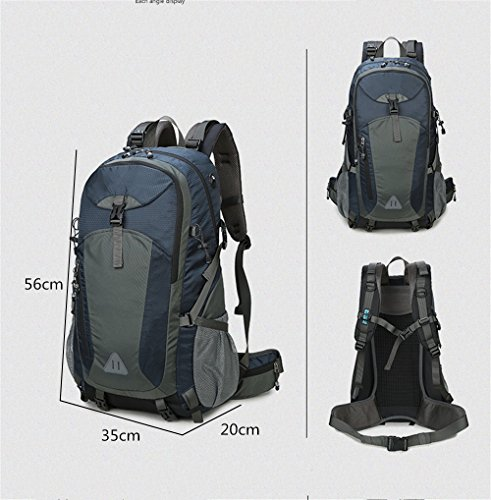 BergsteigenTascheUmhängetascheMännerundFrauenreitenTascheTravelTaschegroßenKapazitätWandernRucksack(40L), Pink(50L) Blue (50L)