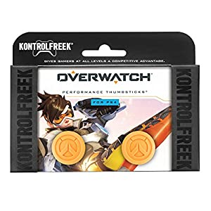 KontrolFreek Overwatch für PlayStation 4 Controller | Performance Thumbsticks | 1 x Hoch Konvex, 1 x Mittel Konvex | Orange