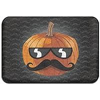 diyabcd Funny Sr. Calabaza bigote Doormats antideslizante para casa jardín puerta alfombra Felpudo piso almohadillas