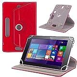 Tablet Tasche f Jay Tech CANOX Tablet PC 101 Hülle Schutz Case Cover Schutzhülle, Farben:Rot