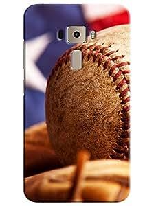 Omnam Cricket Ball Closeup Effect Printed Designer Back Cover Case For Asus Zenfone 3 ZE552KL