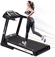 PowerMax Fitness Unisex Adult TDM-111 (2.0 Hp) Motorized Treadmill With 5inch Lcd Display, Usb & Multimedi