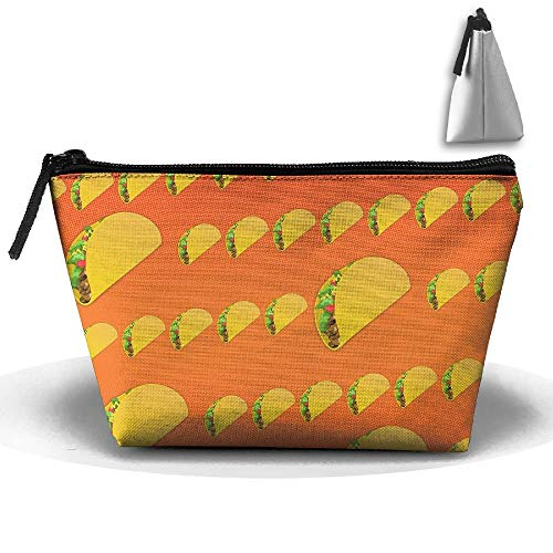 Trapezoidal Cosmetic Bags Makeup Toiletry Pouch Taco Pattern Travel Bag Phone Purse Pencil Holder (Geschenk-karte Taco)