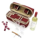 The Greenfield Collection WP003H Luxus Weinkühler für Zwei Personen in Mullberry Red - 3