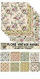 Paper Pack (24blatt 15x15cm) Romantic Vintage Floral Pattern FLONZ Vintage Muster Papier fur Scrapbooking und Handwerk