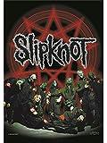 Slipknot: Slipknot - Below Pentagram In Circle Flagge (Zubehör)