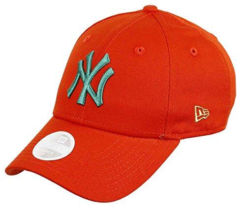 New Era New York Yankees New Era 9forty Adjustable Women Cap League Essentials Orange/Turquoise - One-Size