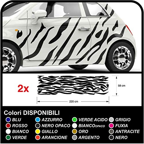 GRAFIC Adesivi per Auto zebrata Camouflage Zebra Strisce Safari Decorazione Auto Tuning Decals (Oro)