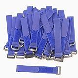 pasow bridas de con correas de hebillas de plástico final alambre cable y reutilizable gancho Loop - 8)