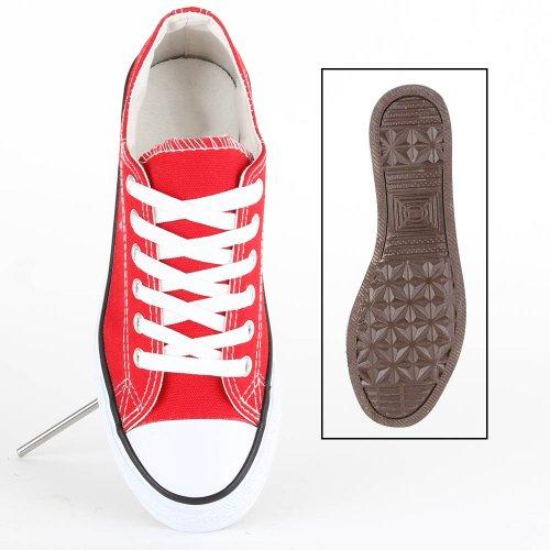 Damen Sneakers Sportschuhe Freizeit Schnürer Rot
