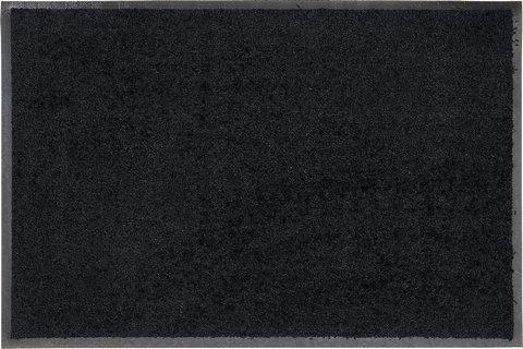 Salonloewe Fußmatte waschbar Schwarz Rund 85 cm Fußabtreter SLU6030-r85x085