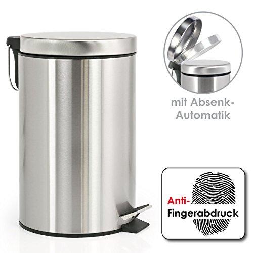 bremermann® Treteimer, mit Absenk-Automatik, Anti-Fingerabdruck, 12 L, matt, 6803