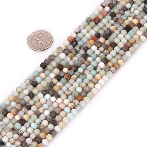 Sweet & happy stivaletto store con pietre amazzonite di perline ciocca 38,1 cm drachensilber produzione perline, 4 mm amazonit