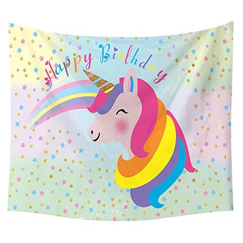 yuhiugre Toalla de Unicornio arcoíris para Playa Piscina y Jugar Playa Toallas de natación para niños | Unicornio Regalos para niñas, poliéster, H06, Small