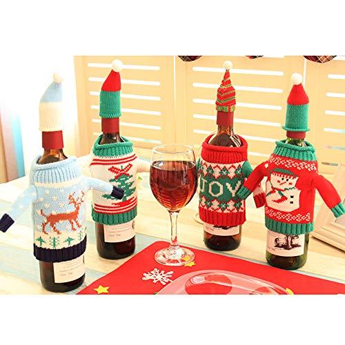 Niedliche Halloween Dekoration Im Freien - GZQ Weinflaschenabdeckung, weihnachtliches Design, 4