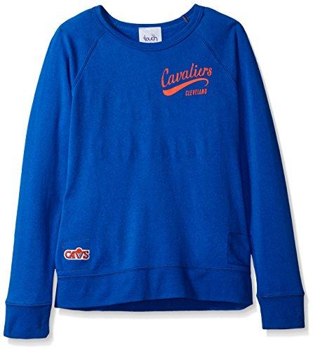 NBA Cleveland Cavaliers Damen Dugout Reversible Pullover Sweatshirt, Damen, Touch Dugout Reversible Sweatshirt, königsblau, Medium - Reversible Damen-pullover