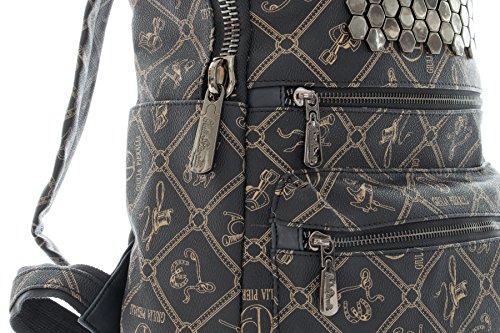 7b7ca81760e65 ... Italienische Damen Rucksack Giulia von Pieralli Schultertasche  Damenrucksack Tasche Rucksäcke (Schwarz) Schwarz
