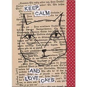 Keep calm and love cats · Kunstwerk von Bettina Mautner Unikat Original Kunst Zeichnung Katze cat Geschenkidee für…